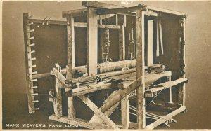 Manx Weaver Hand Loom Postcard
