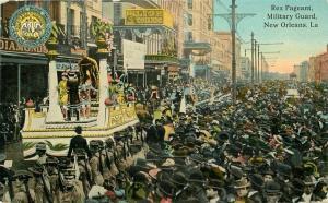 C-1910 Rex Pregnant Military Guard New Orleans Louisiana Postcard Scordill 5661
