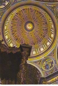 Italy Rome Interior Of The Cupola Of Saint Peter