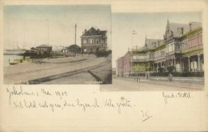 japan, YOKOHAMA, Multiview, Harbour Boats, Grand Hotel (1903)