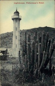 Fisherman's Point Lighthouse Cuba or Panama? c1910 Postcard No Publisher