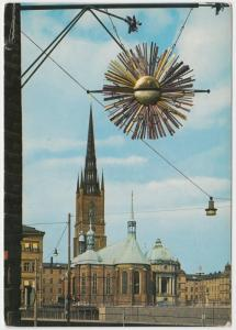 Stockholm, Riddarholmskyrkan, Church of Riddarholmen, used Postcard