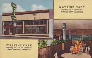 Watkin's Cafes , FORREST CITY & WEST MEMPHIS , Arkansas , 30-40s