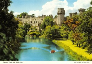 Postcard, Warwick Castle and River Avon, Warwickshire 91Y