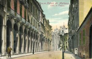 spain, PALMA DE MALLORCA, Balearic Islands, Calle de Palacio (1910s) Stamp