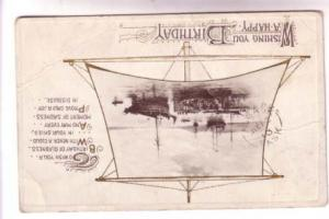 Tall Ships, Happy Birthday, RPO Cancel, Split Ring Cancel, Alsask, Saskatchewan
