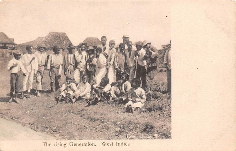 West Indies, The rising Generation, Native Group Children Photo