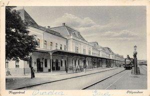 Ro605 oradea nagyvarad gara train  railway station bihor romania