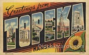 Topeka, Kansas, Usa Large Letter Towns Postcard Postcards  Topeka, Kansas, USA