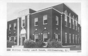 Williamsburg Kentucky Whitley Court House Real Photo Antique Postcard K12580