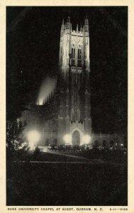 NC - Durham. Duke University Chapel at Night