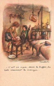 Vintage Postcard 1910 Ligue Nationale Contre Le Taudis Chidren Doing Chores