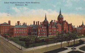 Johns Hopkins Hospital, North Broadway, Baltimore, Maryland,PU-1912