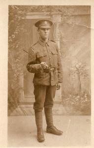 London Regiment WW1 Soldier Military Portrait Real Photo Postcard