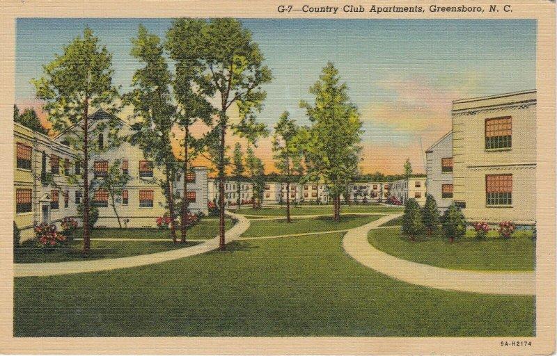 GREENSBORO , North Carolina , 1930-40s ; Country Club Apartments