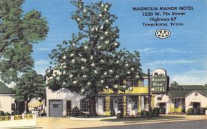 Texarkana Texas~Magnolia Manor Motel~Highway 67~1950 Linen Postcard
