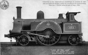 Vintage 1904 Postcard L & NWR Railway Steam Train Loco LADY OF THE LAKE No. 531