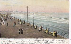 New Jersey Atlantic City Rolling Chairs On The Boardwalk 1906 Tucks