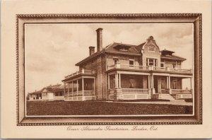 London ON Queen Alexandra Sanatarium Unused Tuck Postcard G89