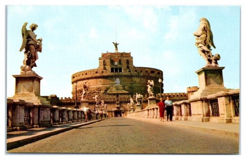 Pan American World Airways Rome, Italy Postcard
