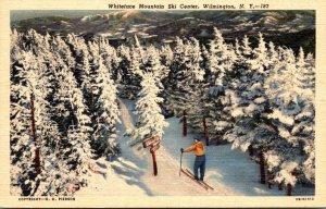 New York Wilmington Whiteface Mountain Ski Center 1953 Curteich