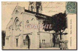 Postcard Old Bordeaux Eglise Sainte Eulalie