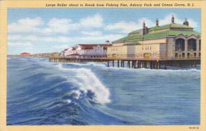 Larger Roller About To Break From Fishing Pier, Asbury Park and Ocean Grove, ...