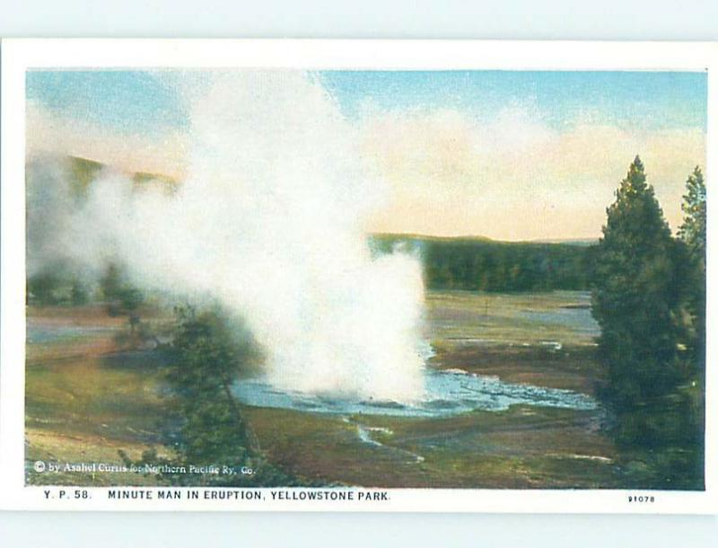 Unused W-Border MINUTEMAN Yellowstone National Park Wyoming WY H2543
