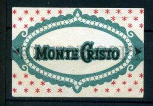 500777 MONTE CRISTO Vintage match label