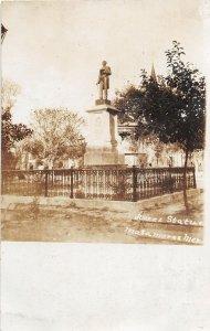 F55/ Matamoros Mexico Foreign RPPC Postcard Juarez Statue c1910