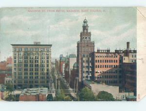 Pre-1907 MADISON STREET East Toledo Ohio OH F1440