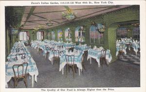 New York City Zucca's Italian Garden Restaurant Interior