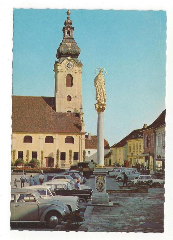 Austria Hartberg Church Mary Column Styria Vintage Postcard