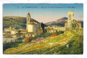 La Turbie, France, 00-10s ; Vue sur la Tour d'Auguste et le Mont-Agel