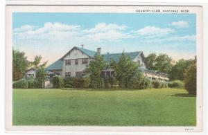 Country Club Hastings Nebraska 1920s postcard
