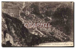 Old Postcard Cauterets Downward view taken from Piguere