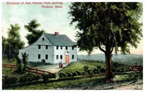 15514  MA  Roxbury  birthplace of Gen. Warren  from painting