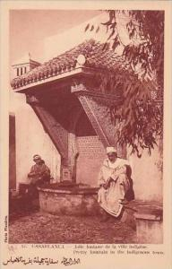 Morocco Casablanca Pretty Fountain In The Indigenous Town 1920-30s