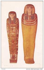 Eygpt Coffins Mummy Chicago Natural History Museum, 40-60s