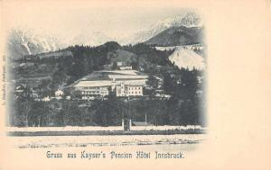 Innsbruck Tyrol Austria Gruss aus Kayser's Pension Hotel antique pc Z42699