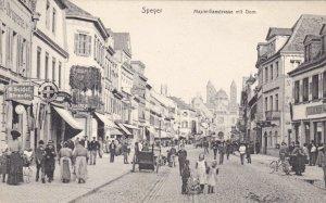 Germany Speyer Maximillianstrasse Mit Dom Street Scene sk3263