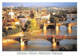 Czech R. Praha Prague Birdges Prager Brucken Ponts Tram