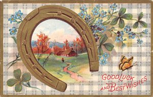 Tools Post Card Good Luck and Best Wishes 1919