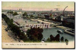 Old Postcard Paris Seine View took the Pavillon de Flore