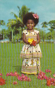 Fiji Native Girl Elizabeth Dressed In Her Sunday Best