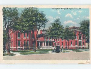 W-Border OLD CARS AT HOSPITAL Springfield Illinois IL d5836