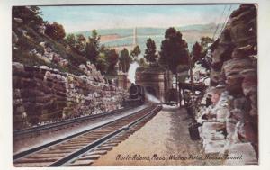 P166 JL old postcard Railroad hoosac tunnel n. hampton mass