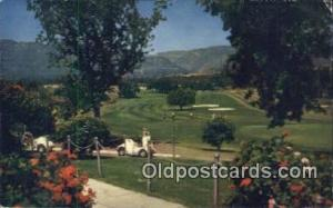 Valley Inn And Country Club, Ojai, CA USA Golf, Golfing Postcard Post Card Ol...