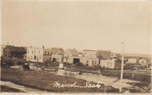 RP;  MARCELIN, Saskatchewan, Canada, PU-1913; Flooded River Main Street