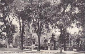 Massachusetts South Hadley Mary Lyon Hall And Gate Mount Holyoke College Albe...